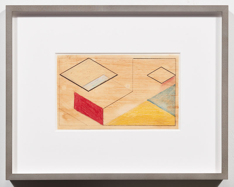 Suzanne Blank Redstone, Preliminary drawing 3 for After van Doesburg , 1968
