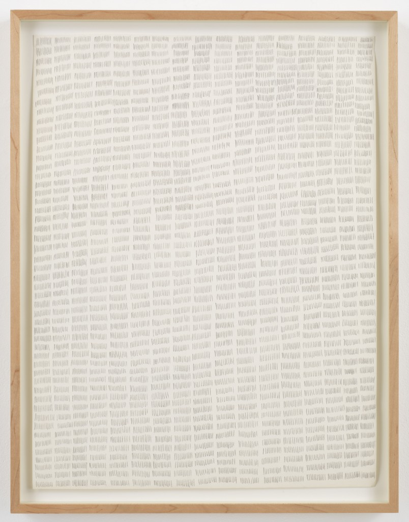 Marcia Hafif,  Pencil on Paper: February 9. 1972, 1972