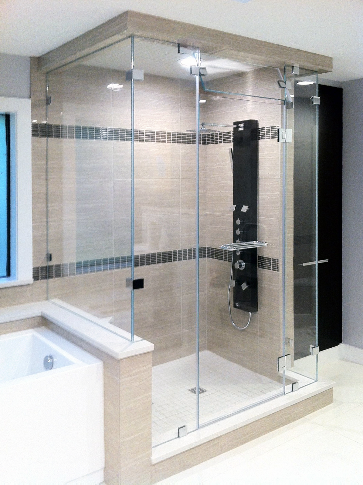 Steam Shower with Double 90-Degree Return