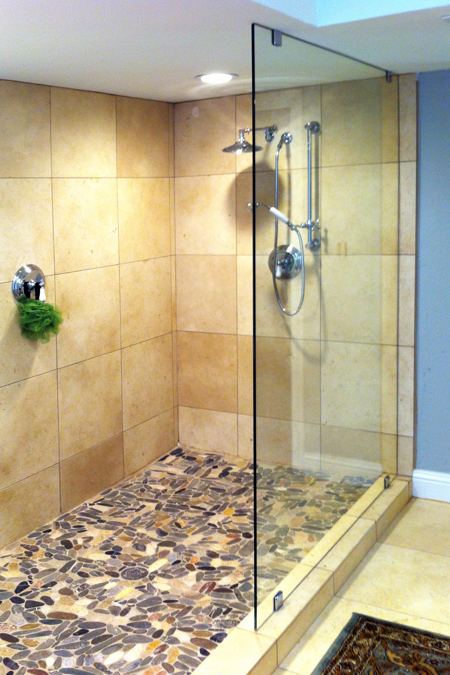 Frameless Shower Splash Panel