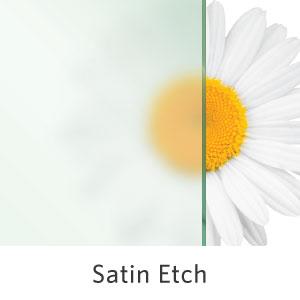 Satin Etch Shower Glass