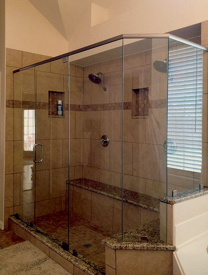 Custom Neo Angle Shower Enclosure and with Header