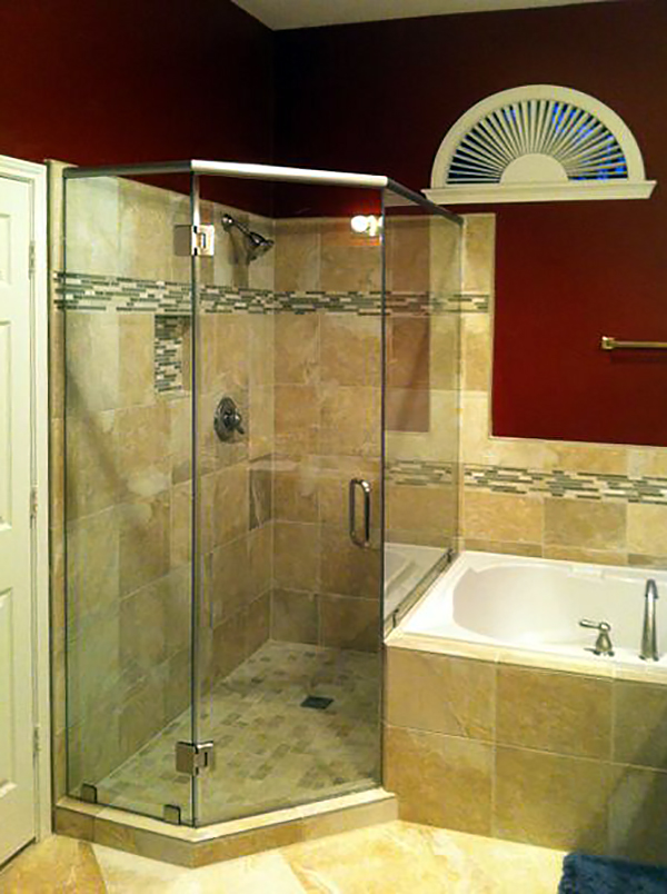 Neo Angle Glass Shower Enclosures Shower Doors Of Dallas