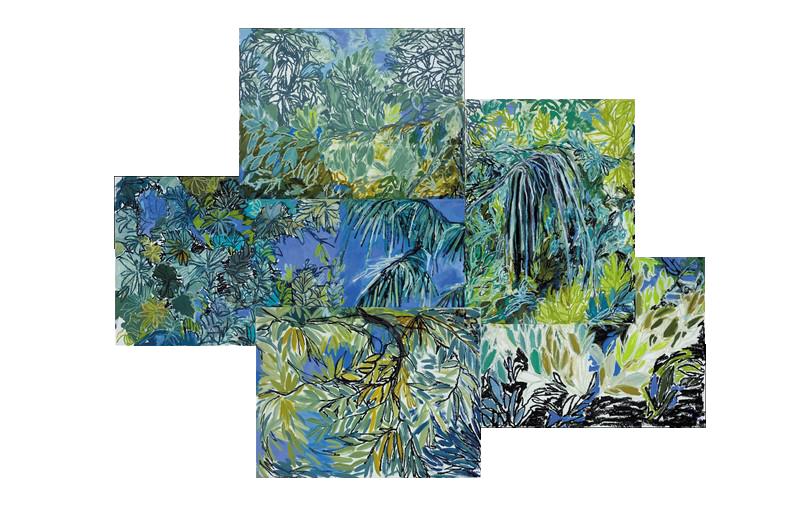 Florida Trees Collage