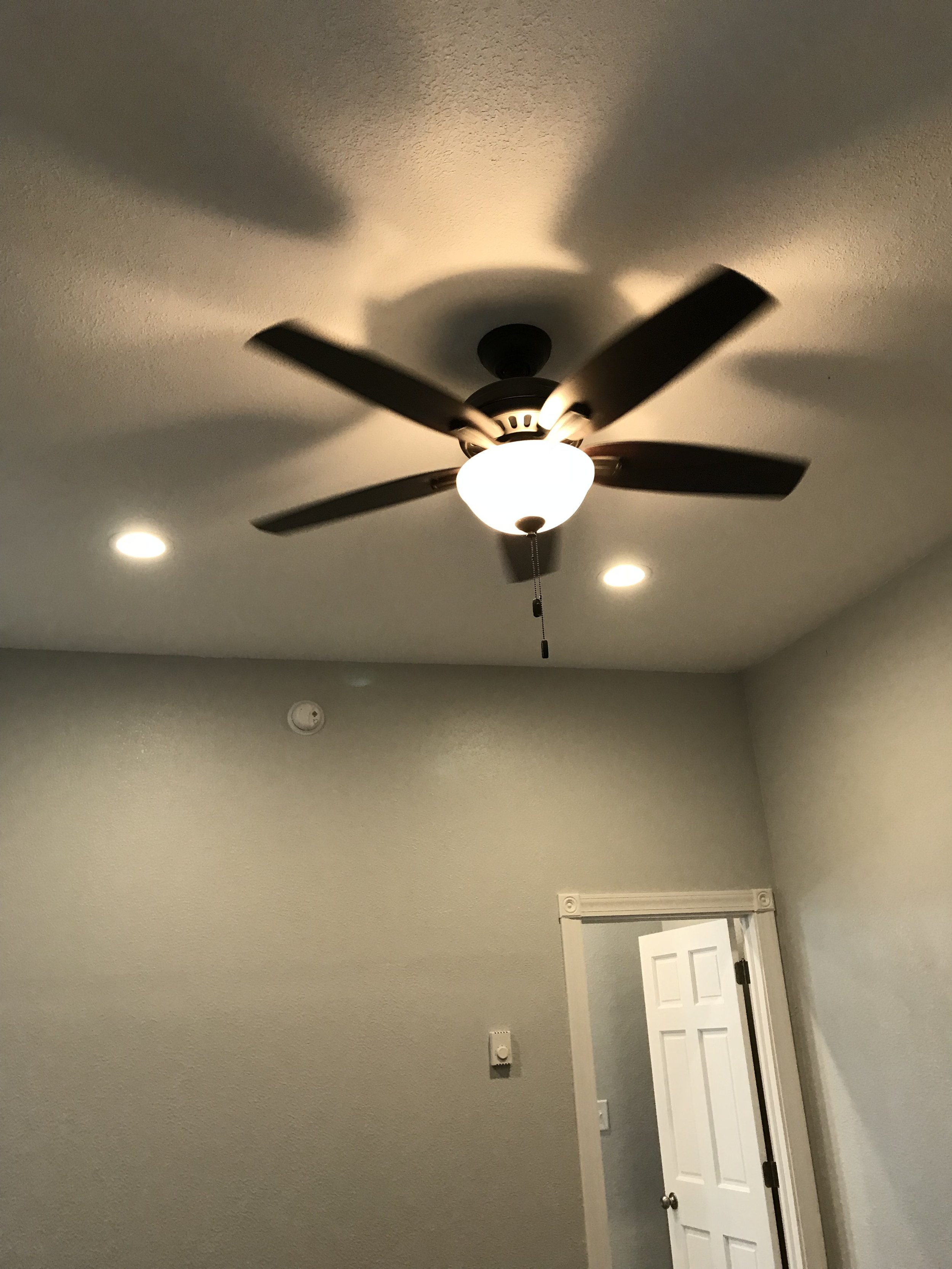 Ceiling fans and recessed lights
