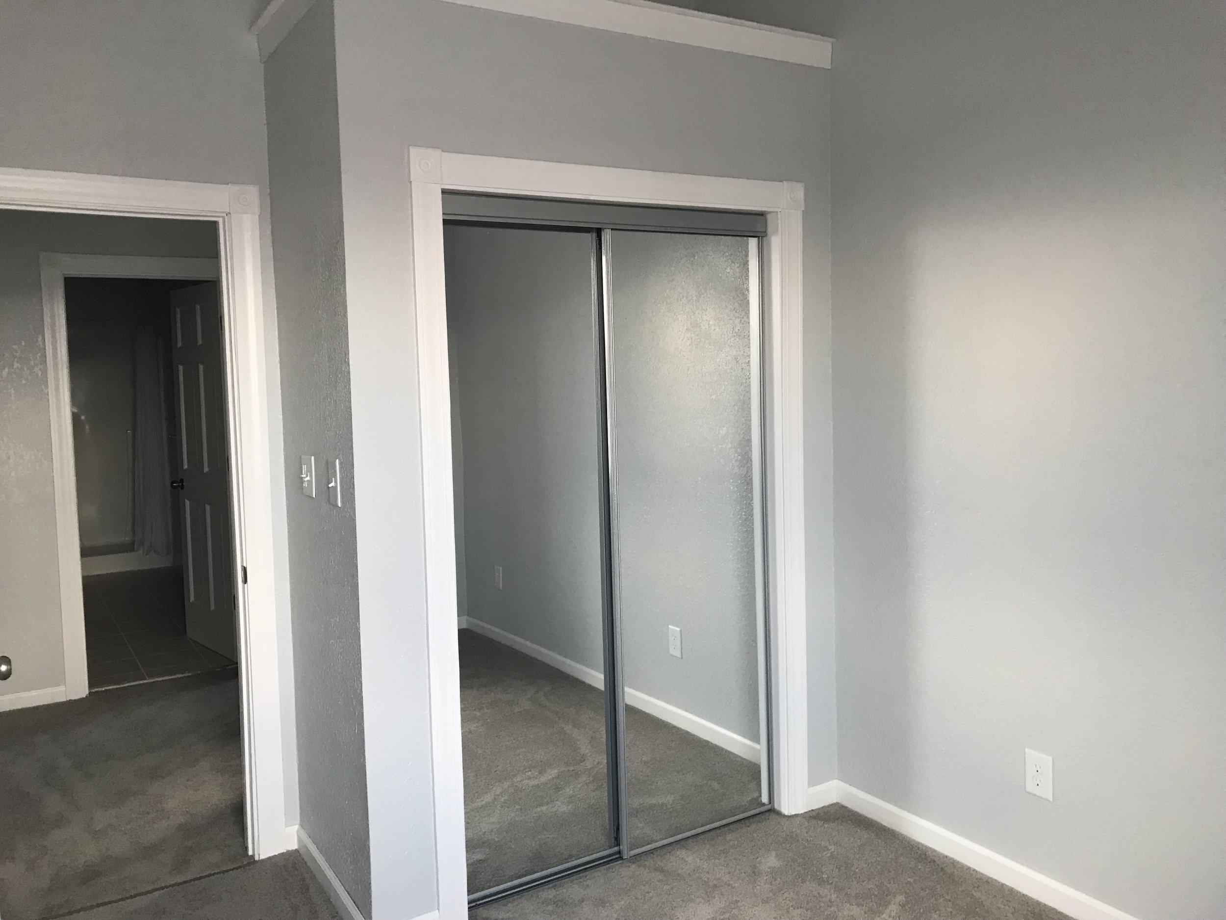 Bedroom 2 mirrored closet