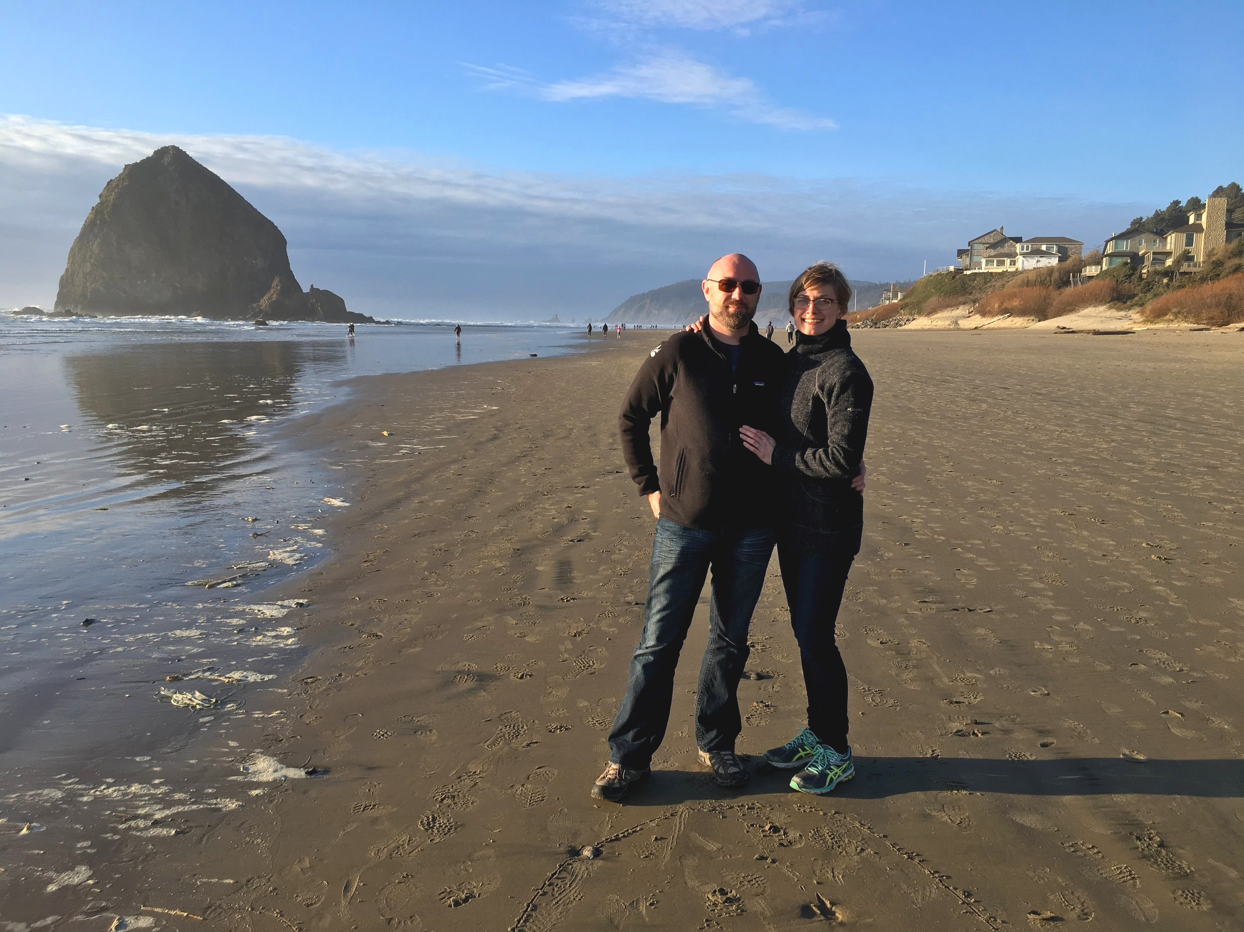 James and I on Cannon Beach.