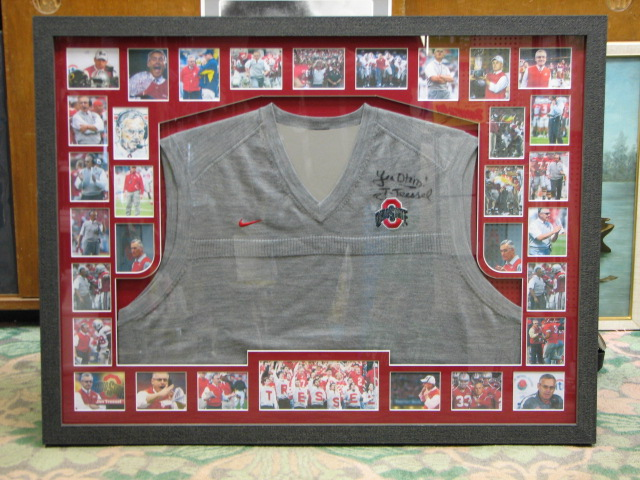 Tressel signed Ohio State Coach Sweater