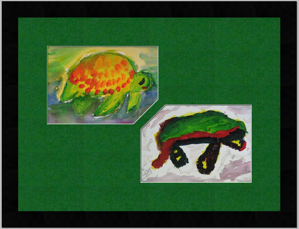 Turtle water color done by Husband and Wife
