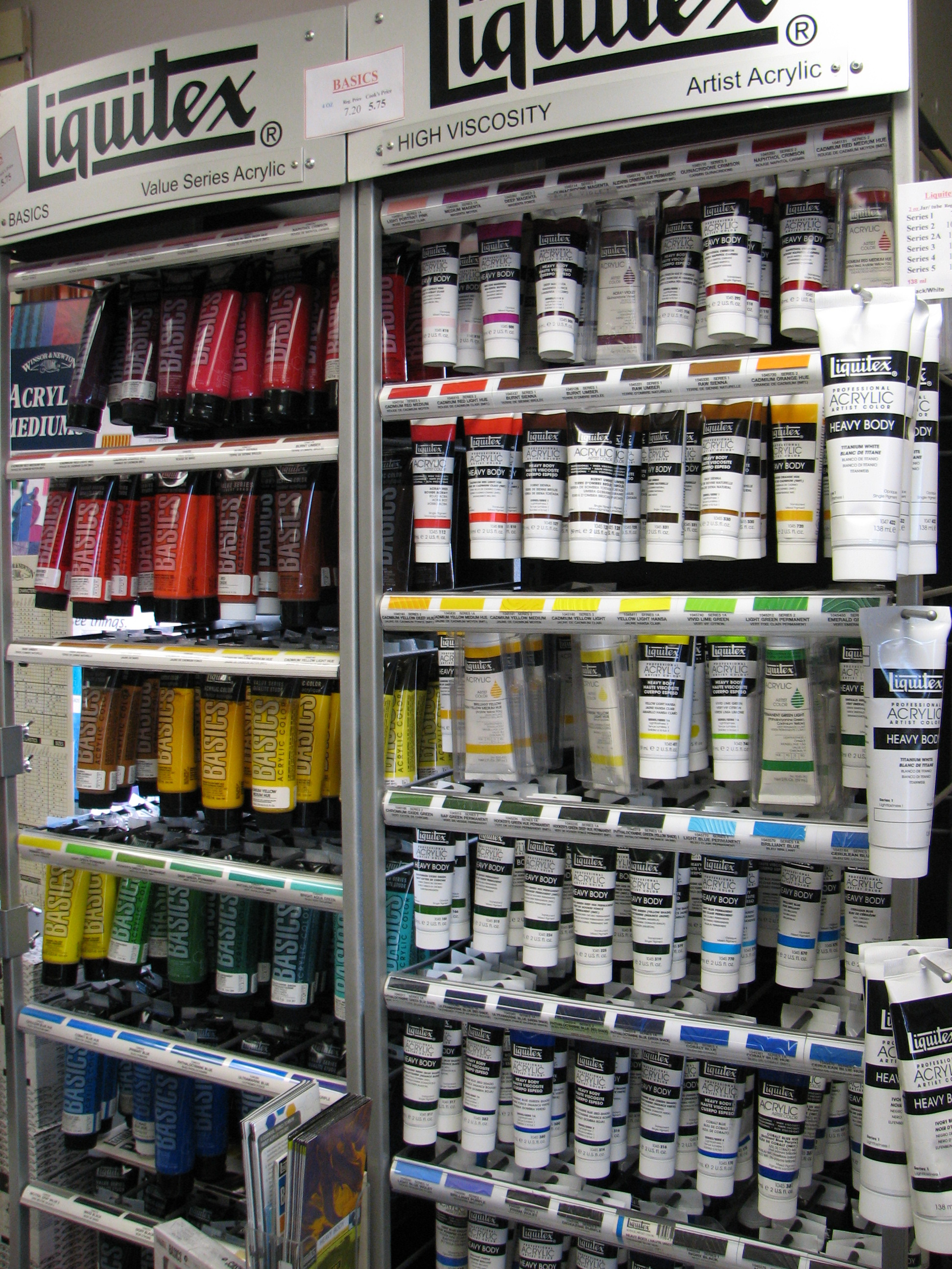 Liquitex acrylics in tubes