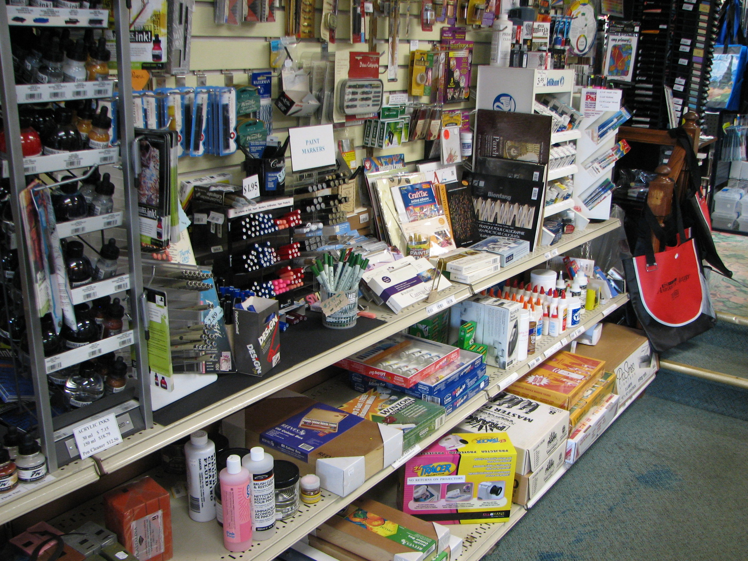 Acrylic Inks and Calligraphy supplies
