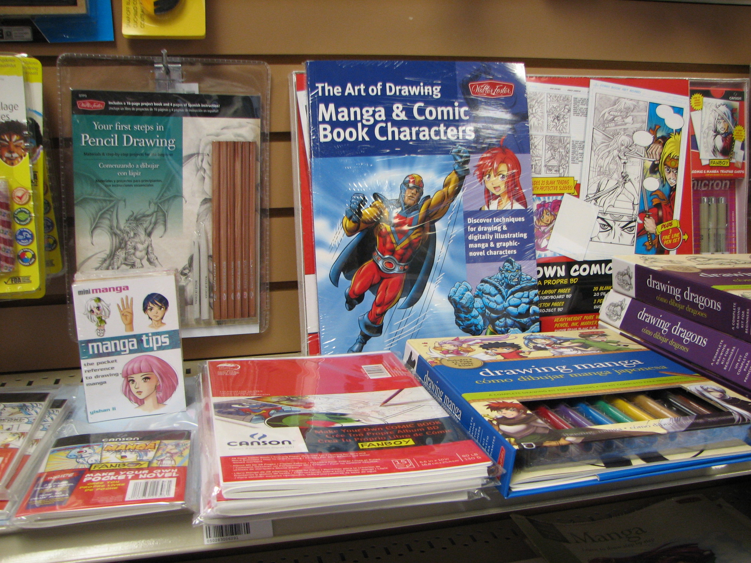 Manga and comic book supplies