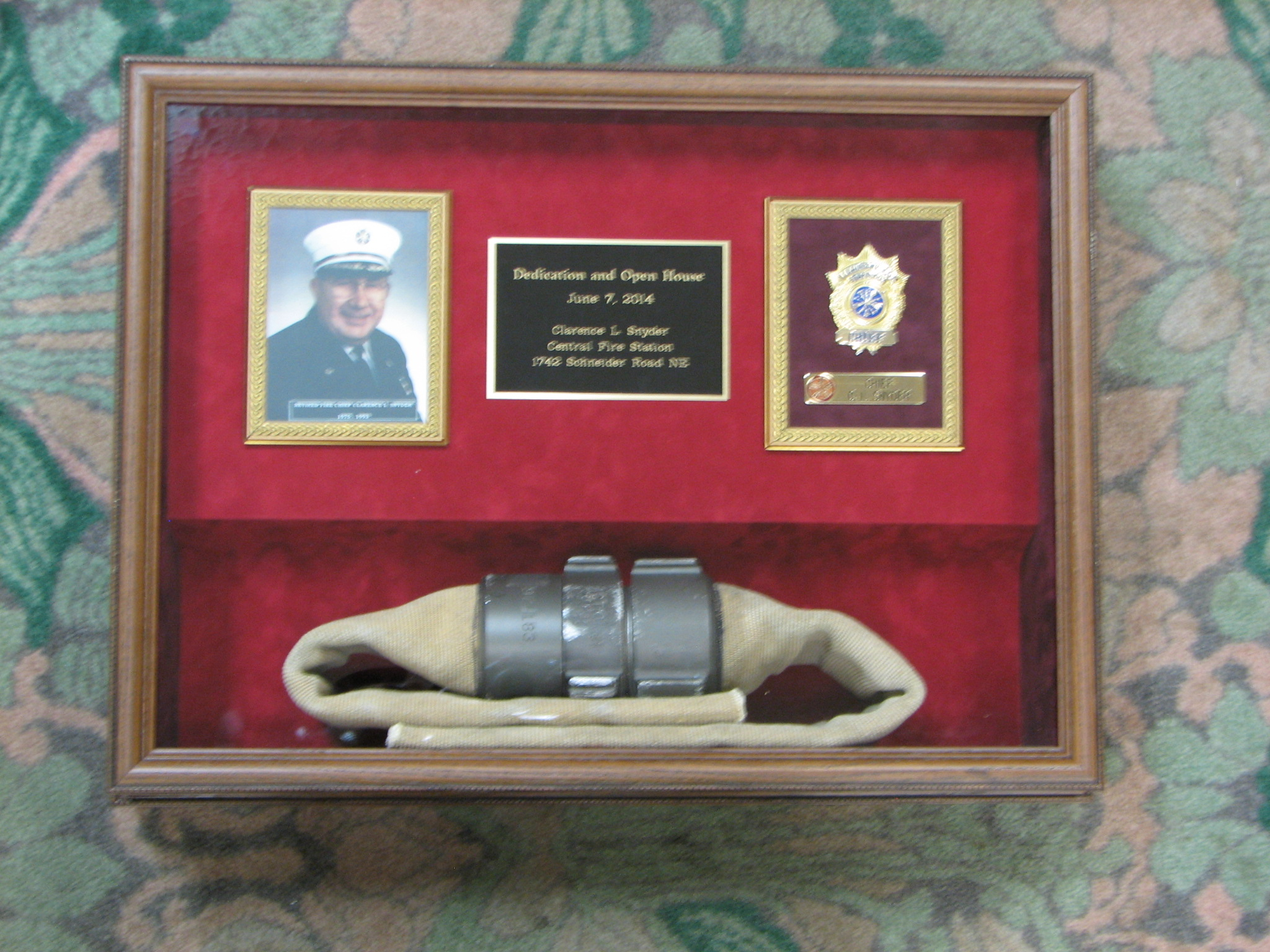 Middlebranch road Plain Township Fire Chief retirement recognition
