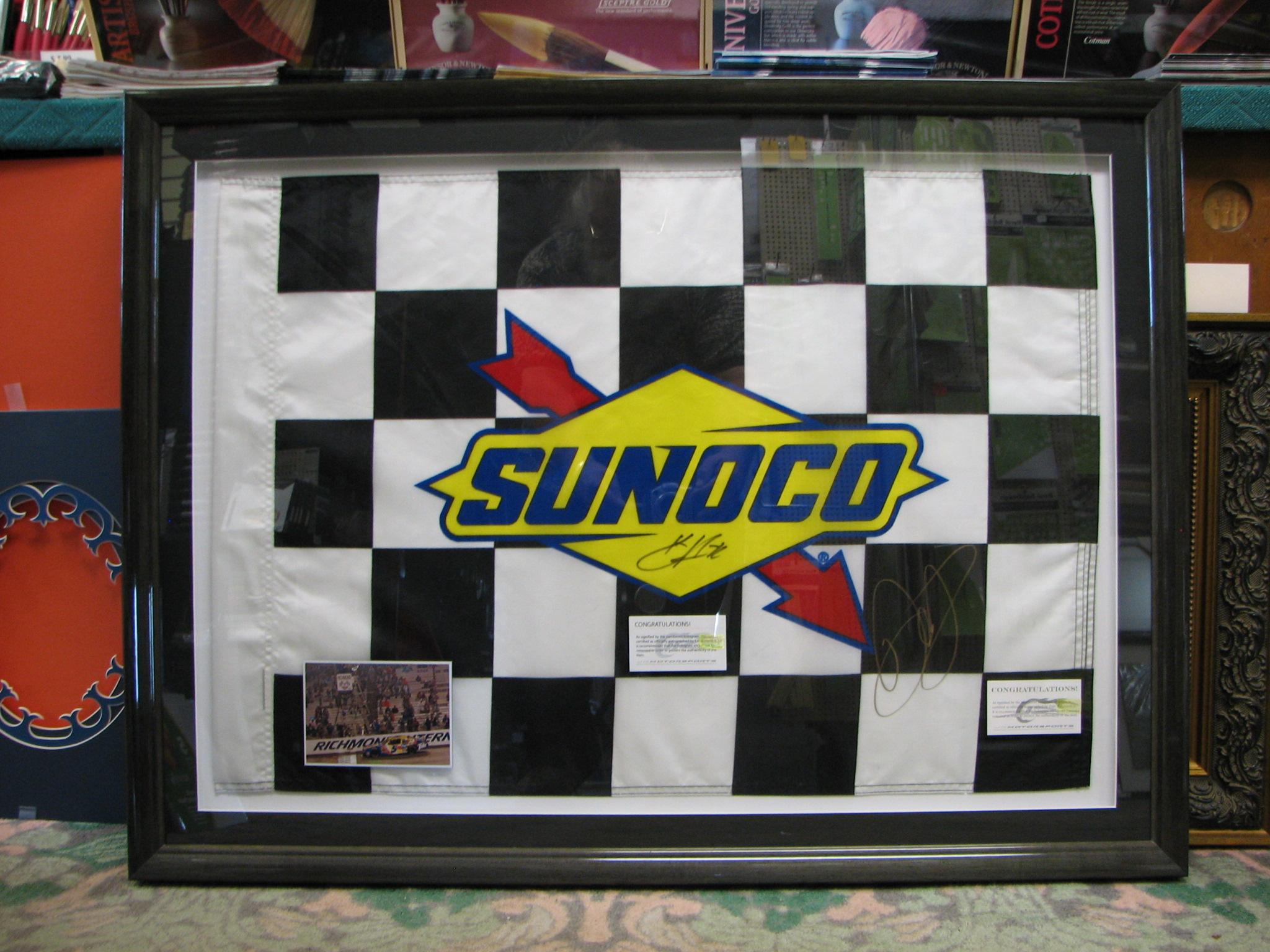 NASCAR finish line Flag signed