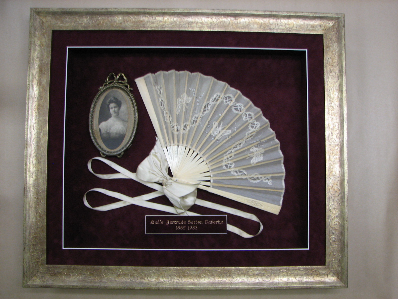 Fan & Picture Heirloom Shadow Box