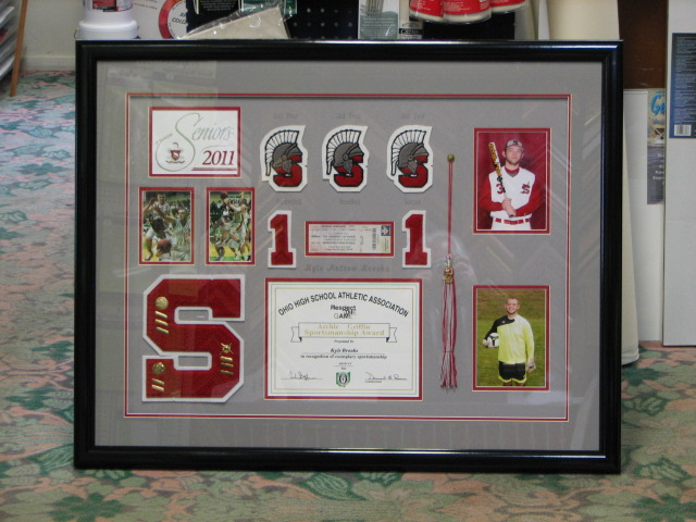 High School Award Shadow Box