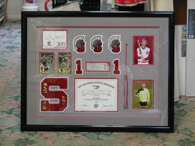 High School Award Shadow Box