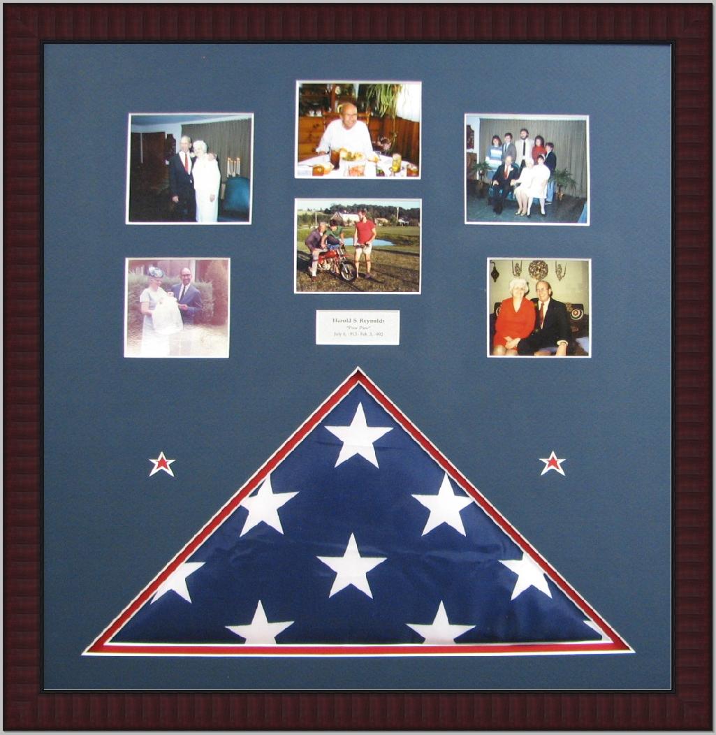 Flag and photos