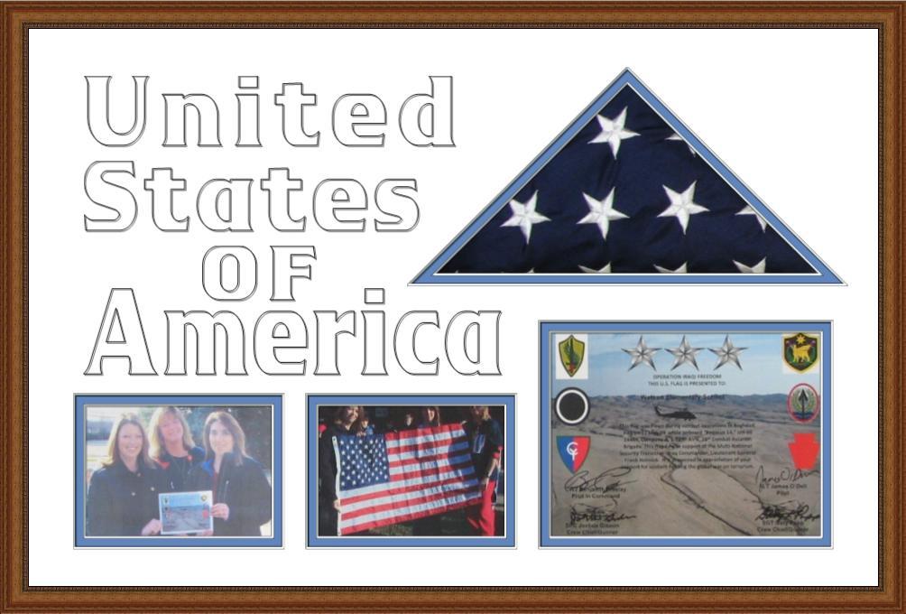 Flag, Photos and Cert.