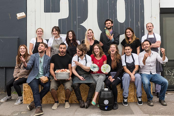 The pre-opening launch of zero-waste restaurant Silo Brighton, September 2014