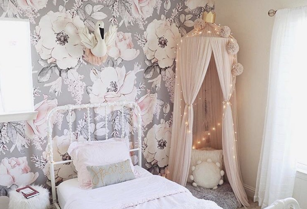 """Rocky Mountain Decals """"Dusty Rose"""" Removable Wallpaper. Photo: @Taralynn."""