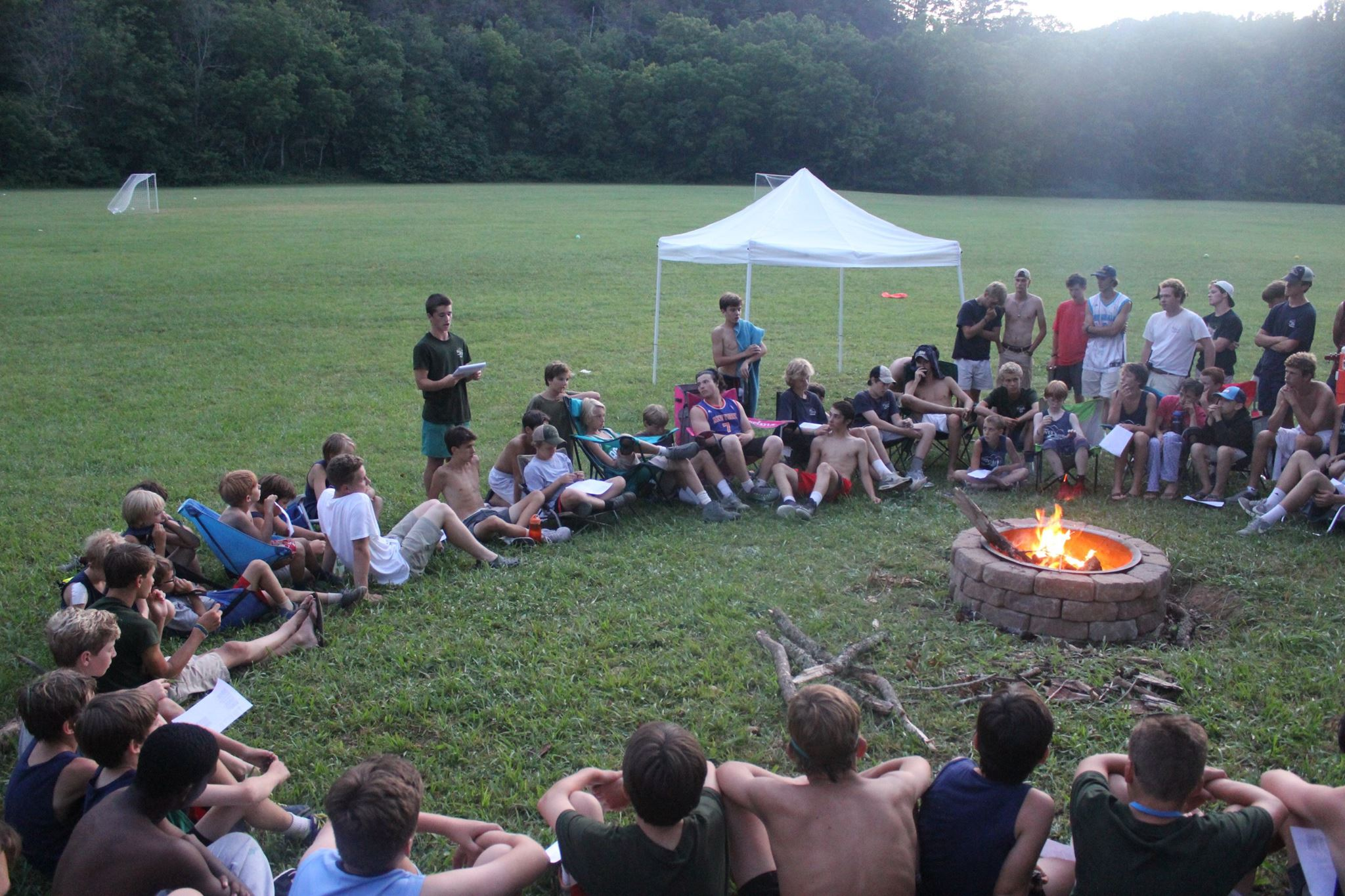 Special Activities: - Campfire Sing-Alongs, Fishing Hikes, Canoe Trips, Overnight Hiking Trips, Overnight Horseback Riding Trips, Dances, Church, Evening Challenge Matches and Games, Navy vs. Green Competitions, Archery Tournaments, Riflery Tournaments, Tug of War, and many more!