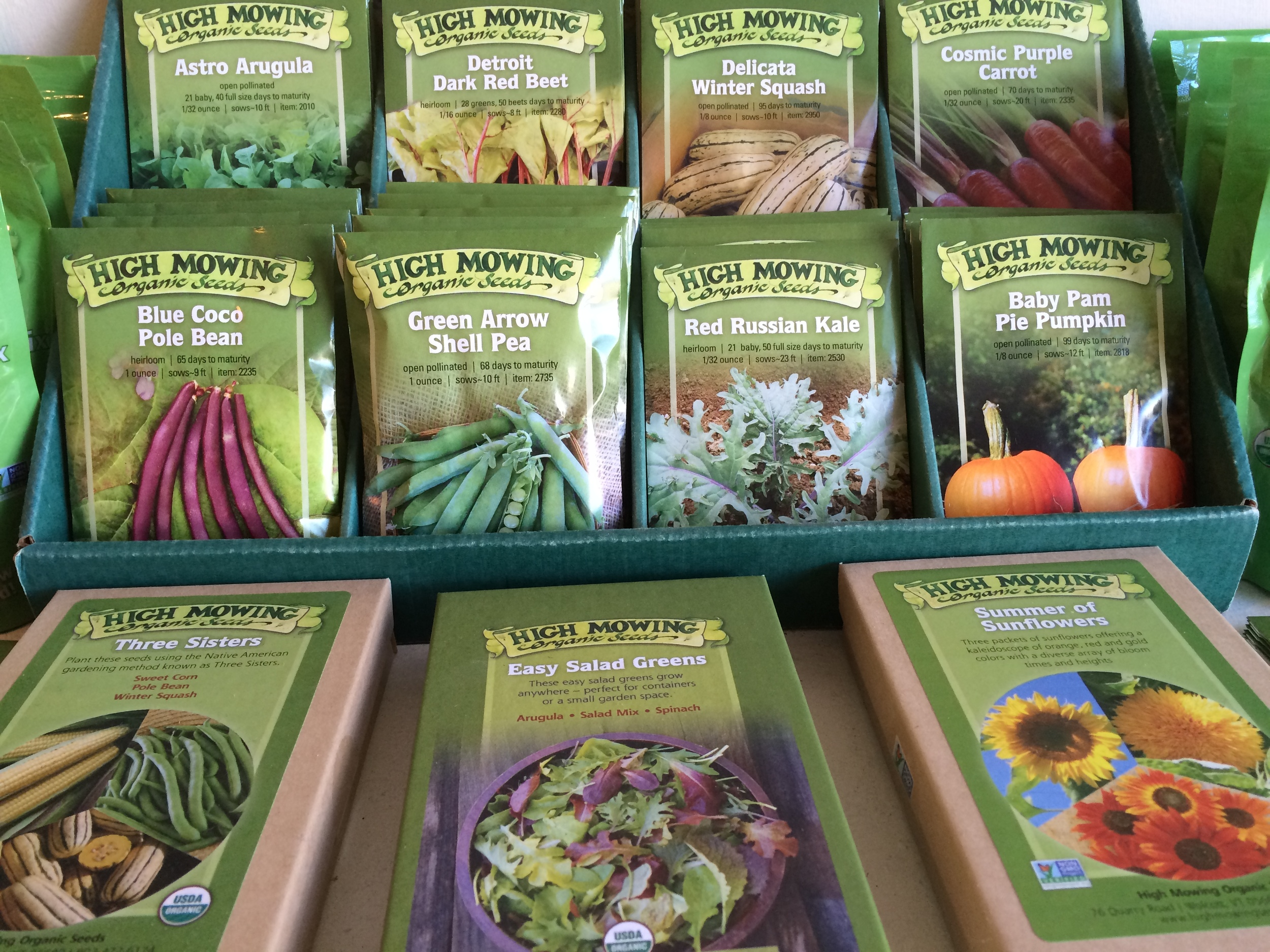 Beautiful High Mowing Seeds for sale at Backyard Growers. Spend $50 on seeds, merchandise and workshops now through June 1 and enter a raffle!