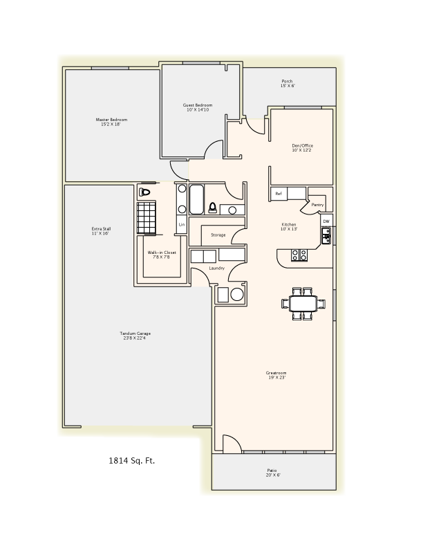 1814 Sq. Ft.    Click above   to download & Print