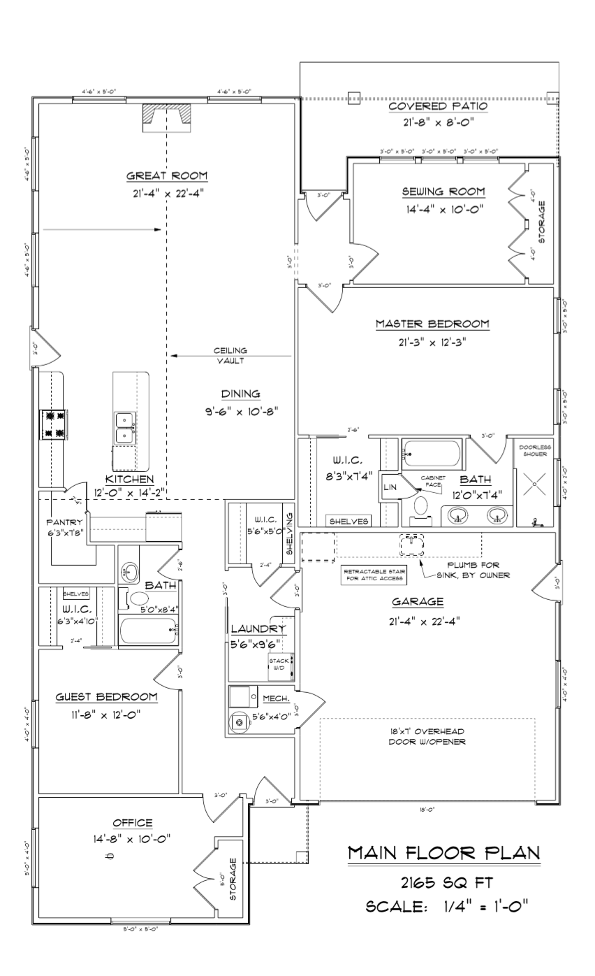 2165 Square Foot Floor Plan