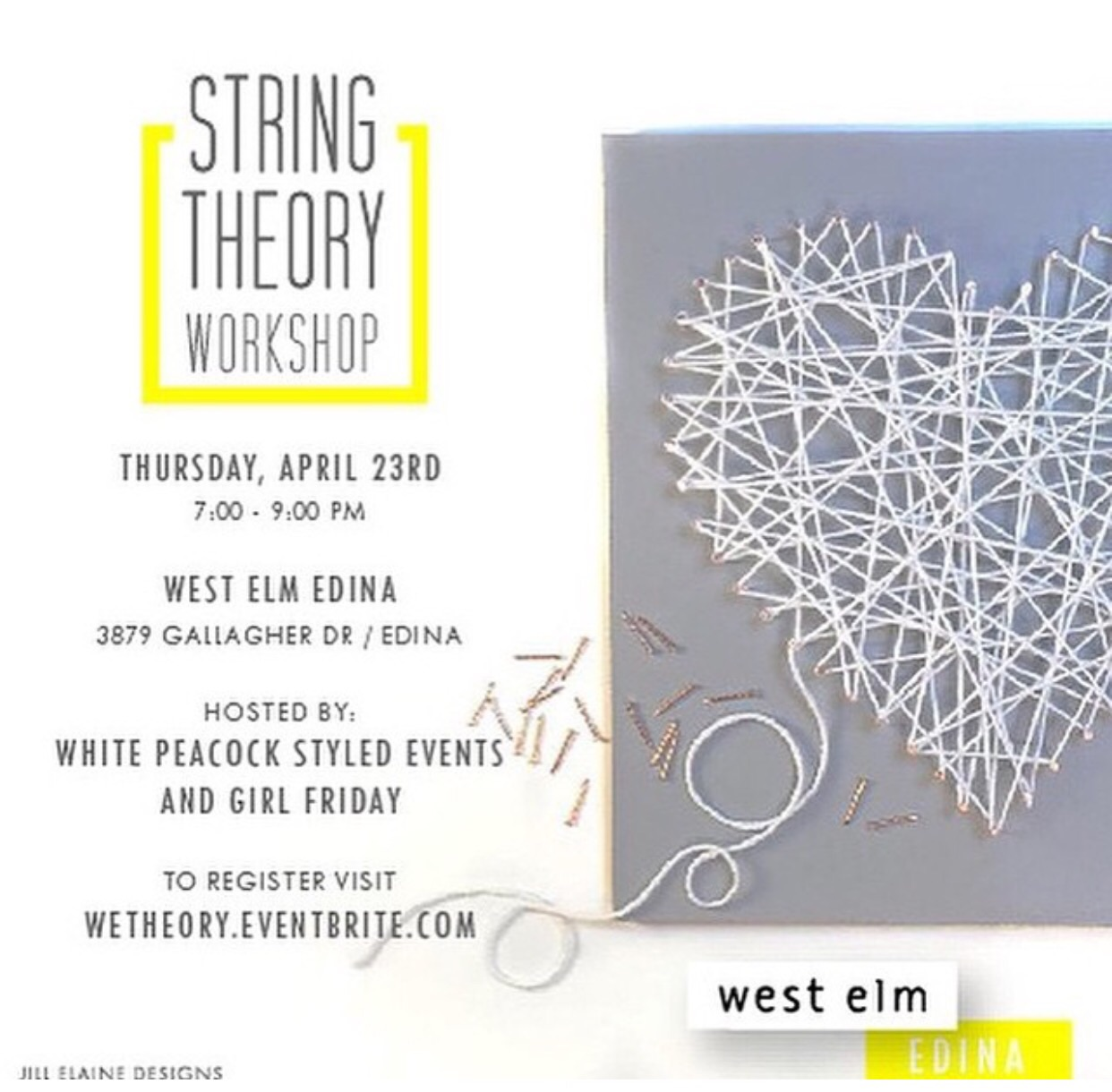String Theory Workshop at West Elm Edina