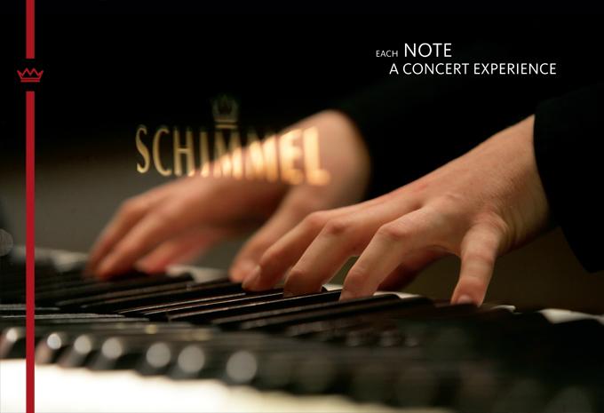 Schimmel piano keys