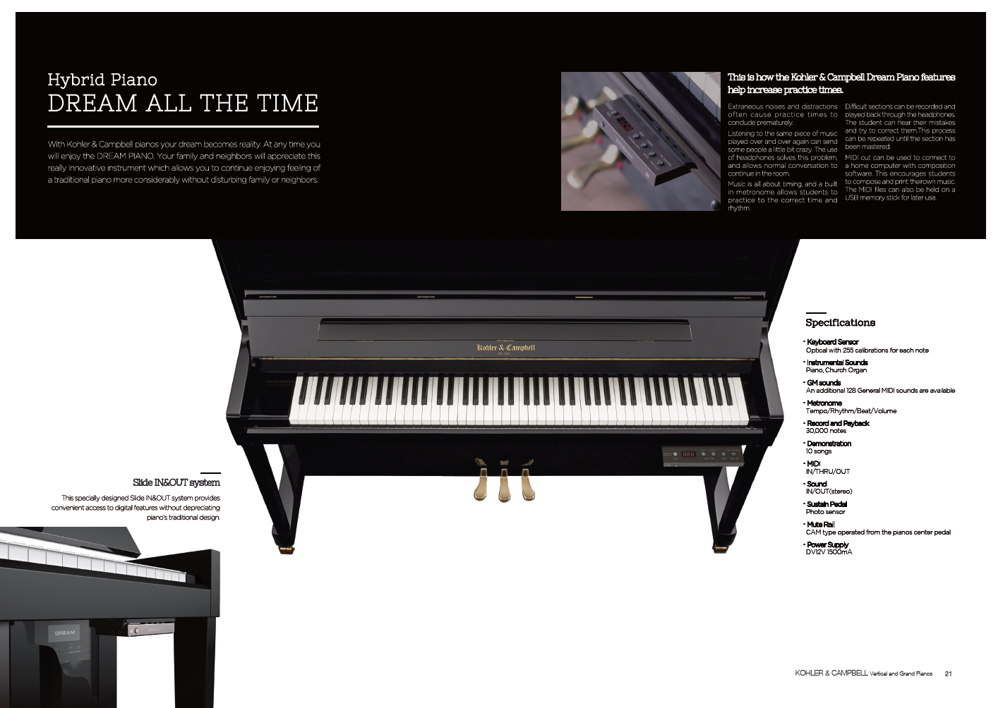 Kohler & Campbell Pianos Dream Silent Playing System