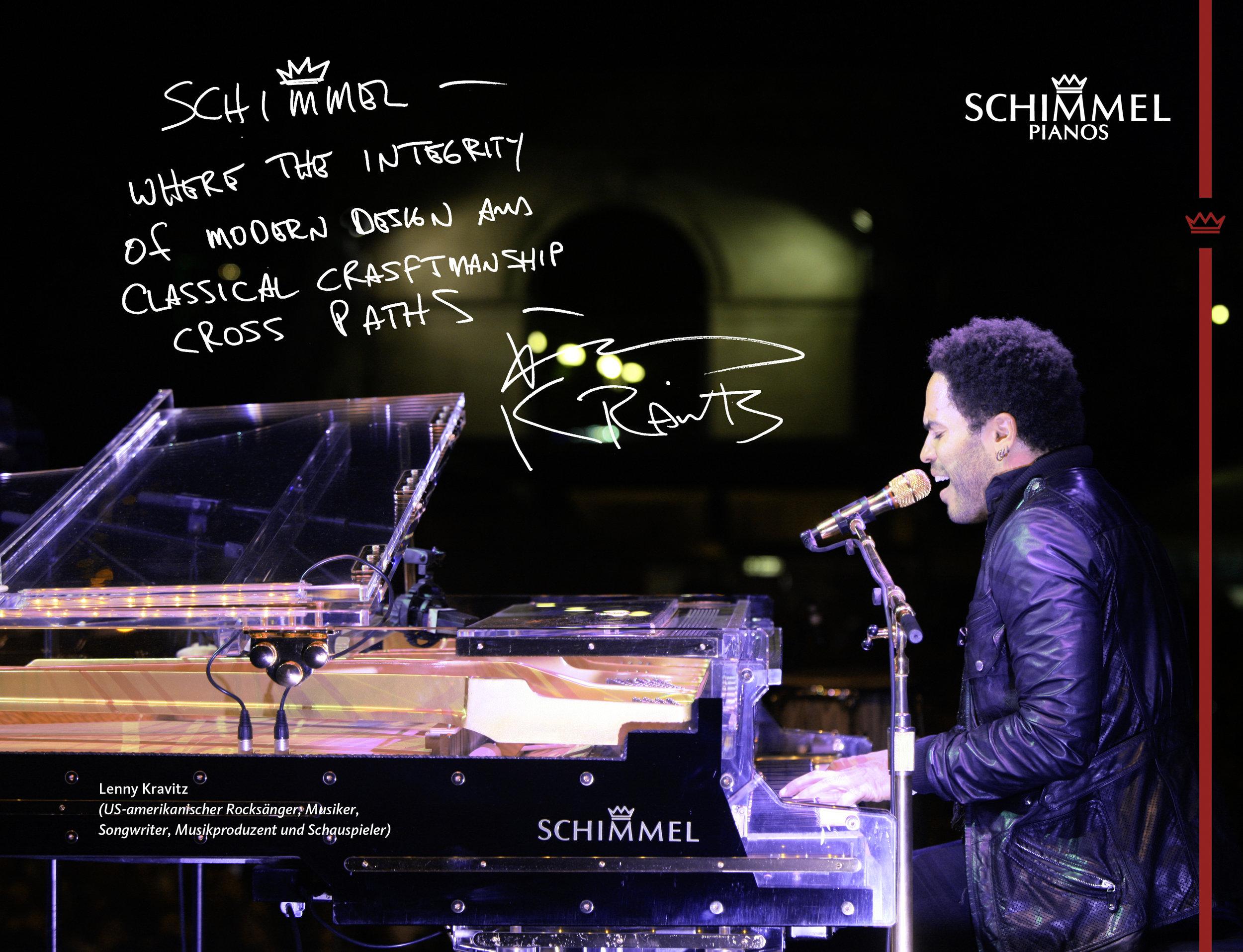 Lenny Kravitz Schimmel Pianos