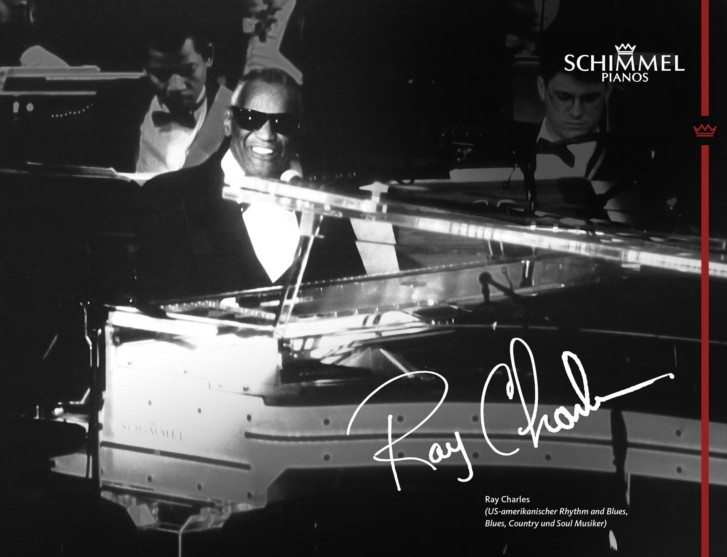 Ray Charles Schimmel Pianos