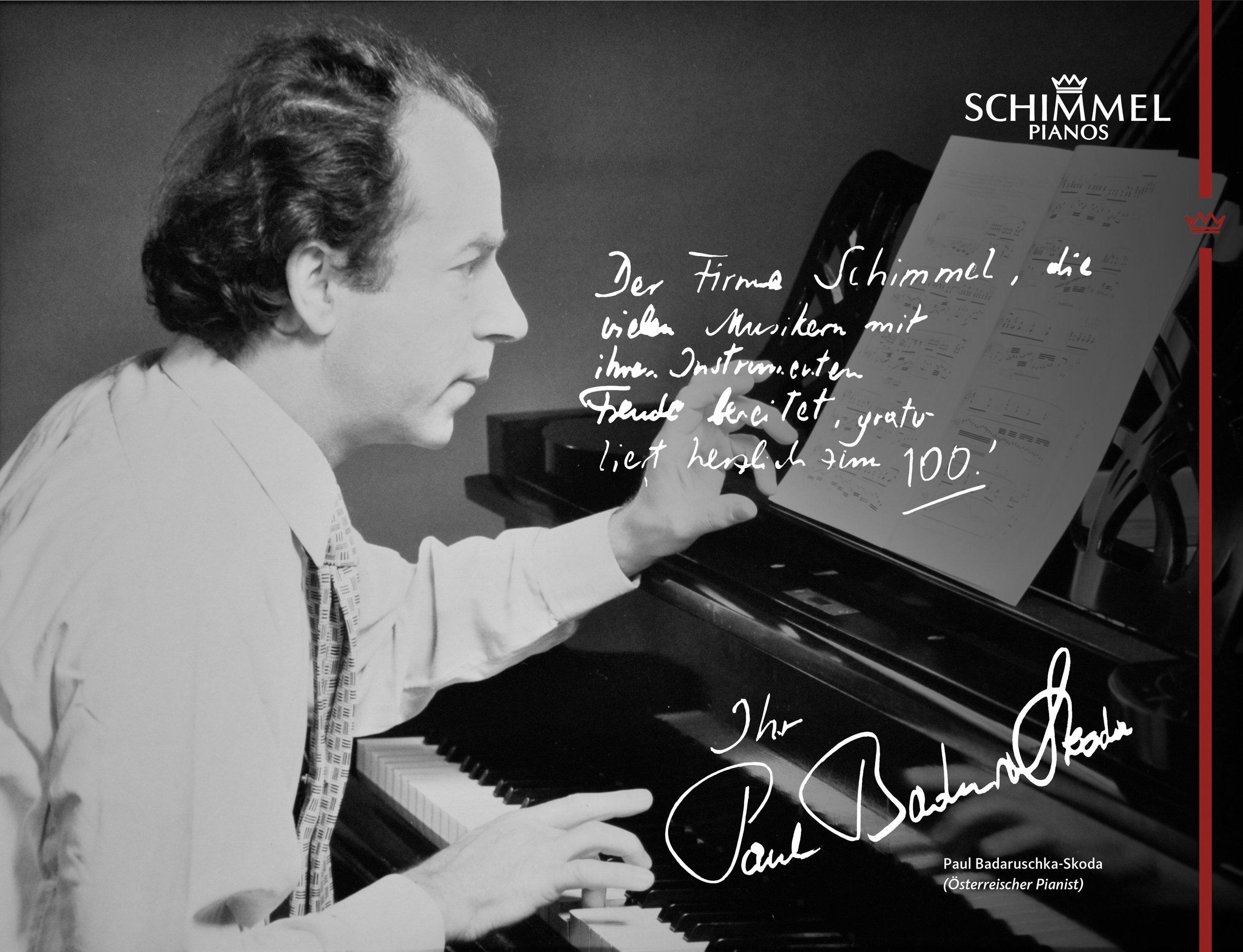 Paul Badaruschka-Skoda Schimmel Pianos