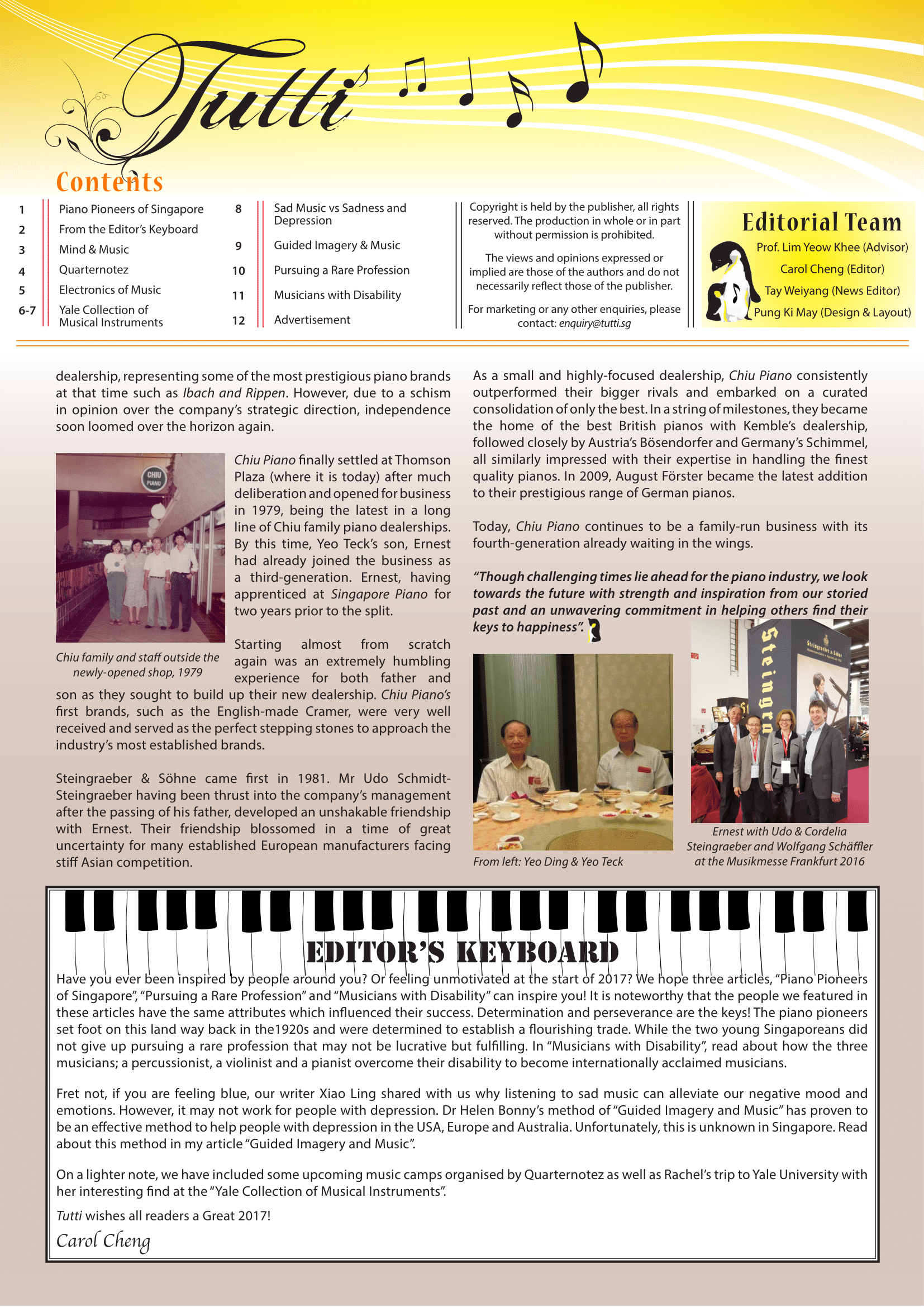Piano Pioneers of Singapore; Part 2