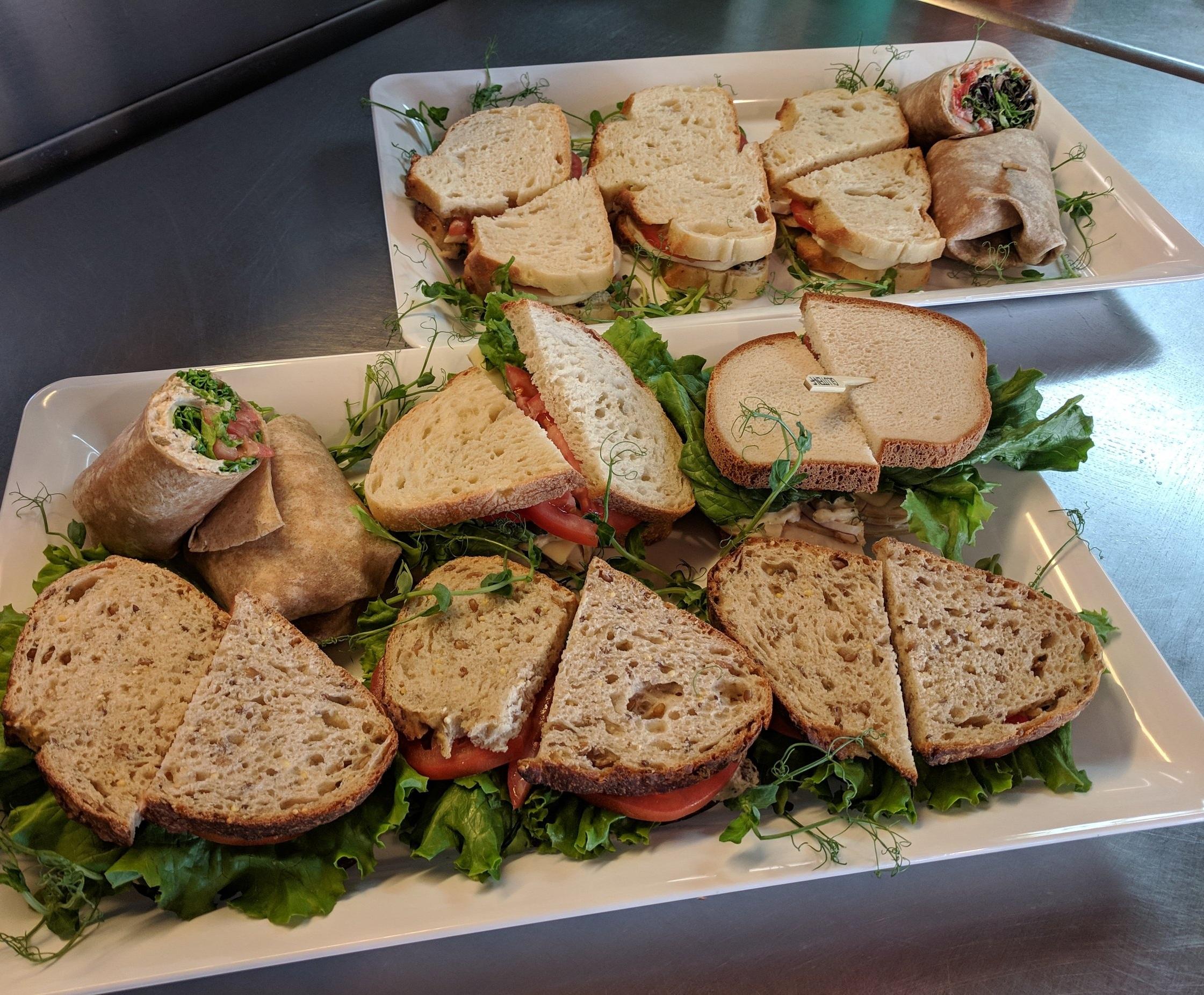 Sandwich Platters  - Vegetarian, vegan, & gluten free options available