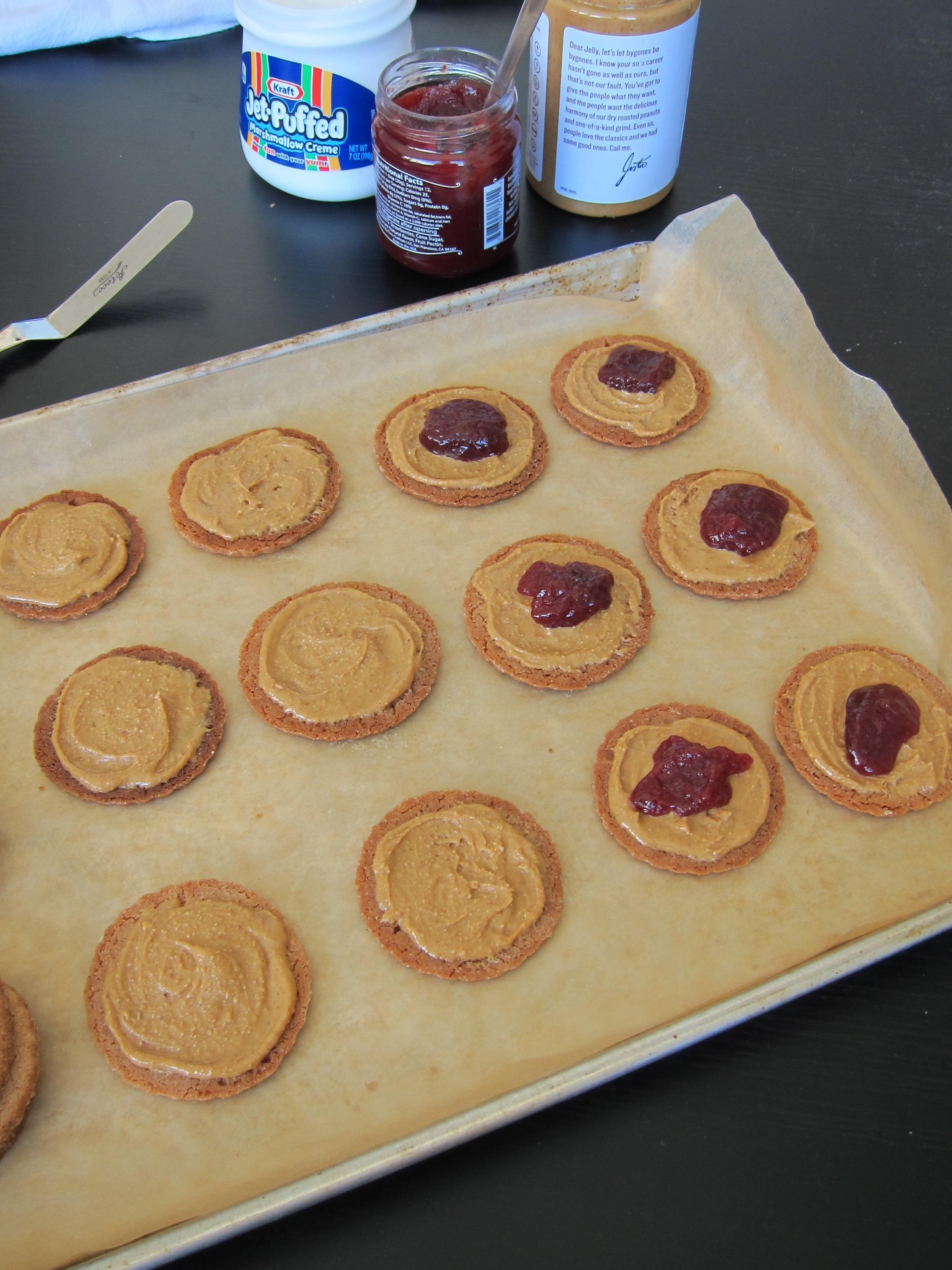 PB&Jam Cookies