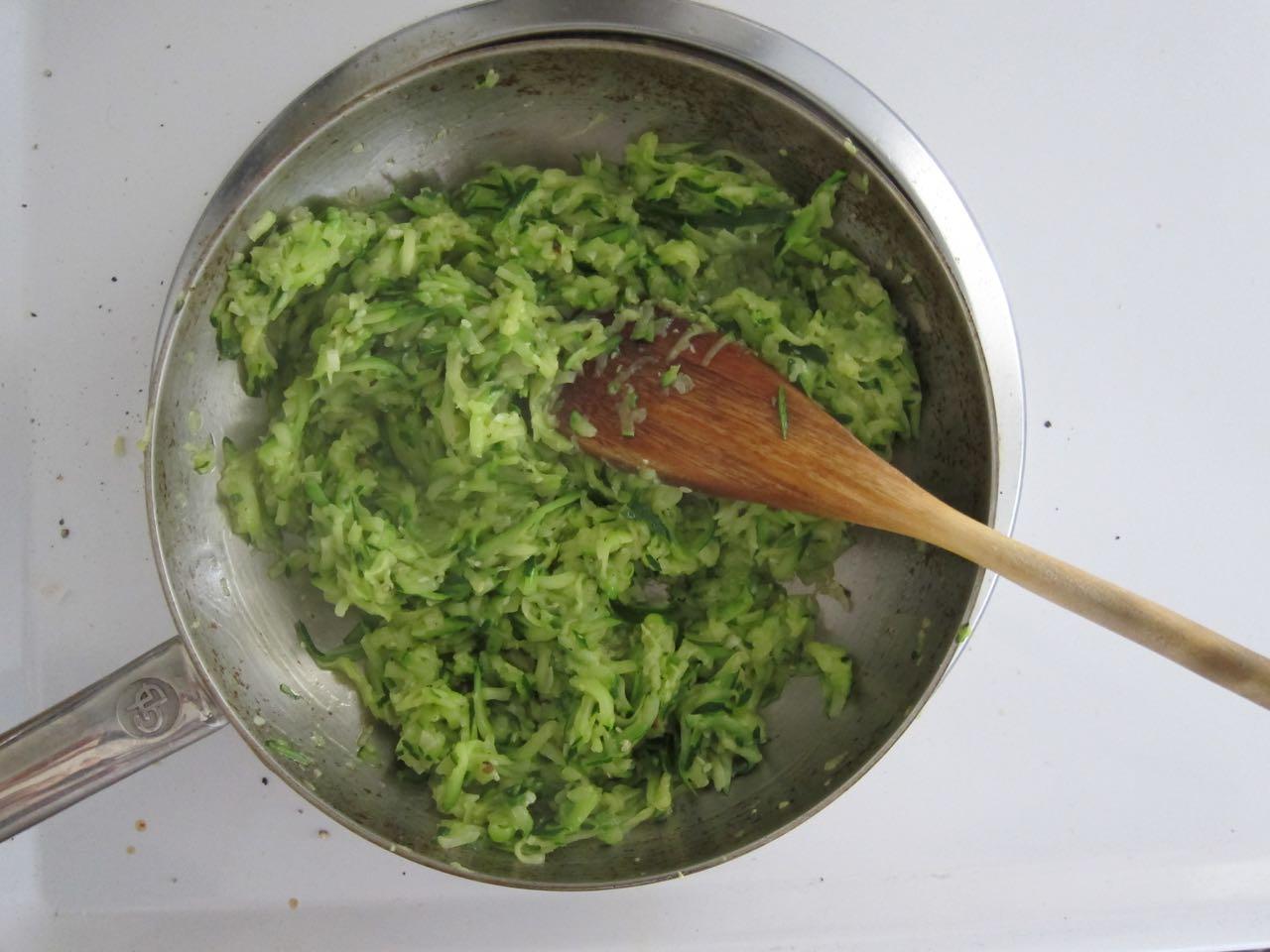 cooking shredded zucchini