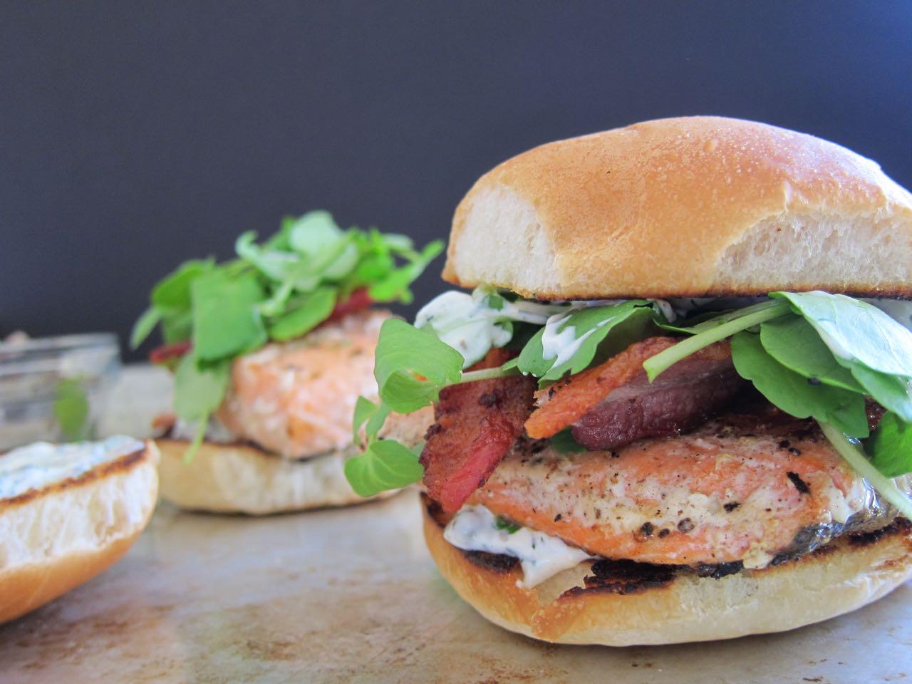 Bacon Salmon Sandwich