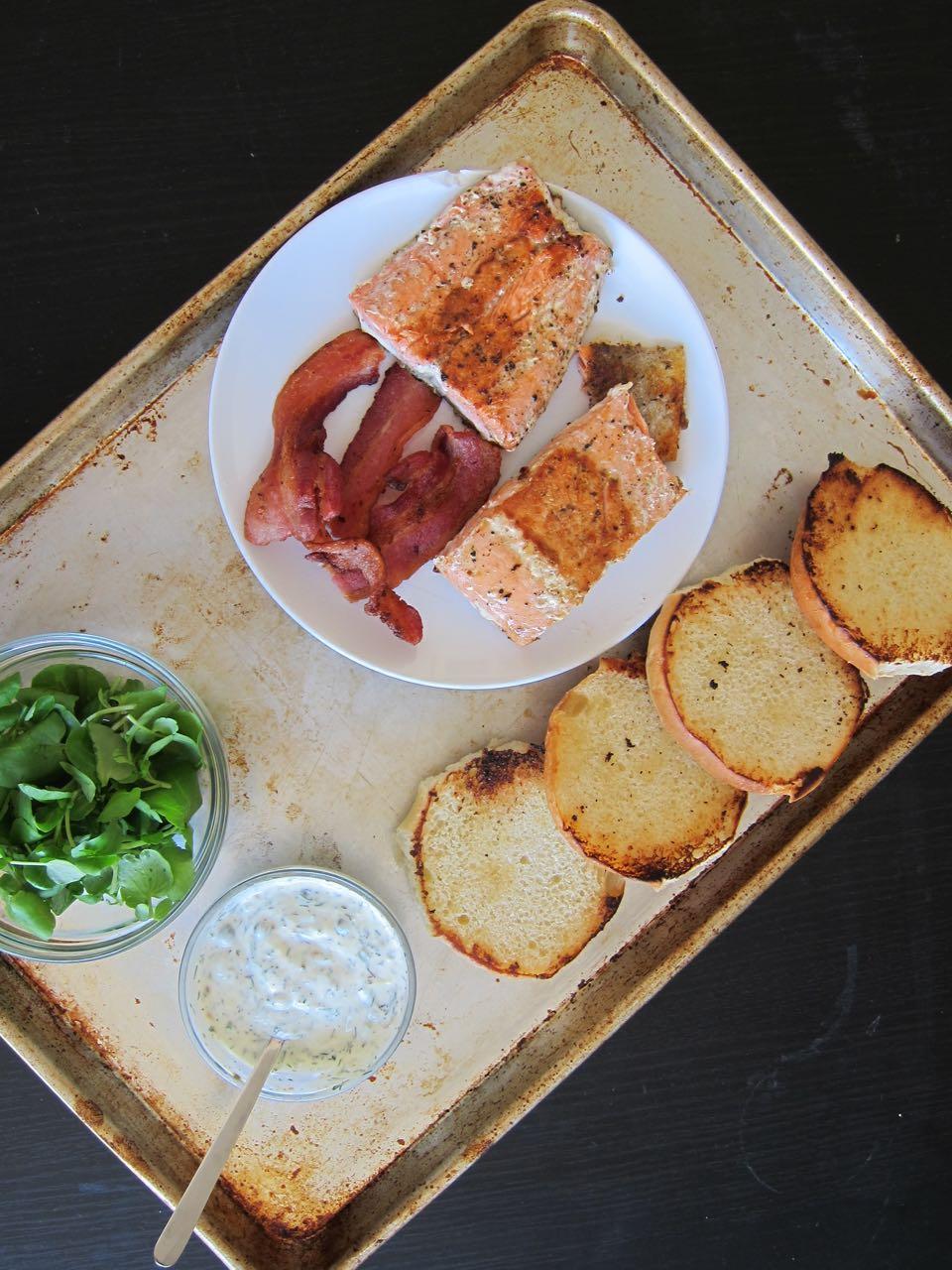 Salmon Sandwich Ingredients