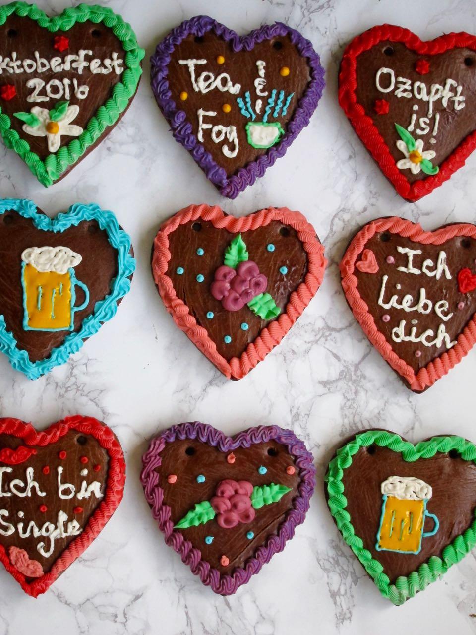 Iced Oktoberfest Hearts