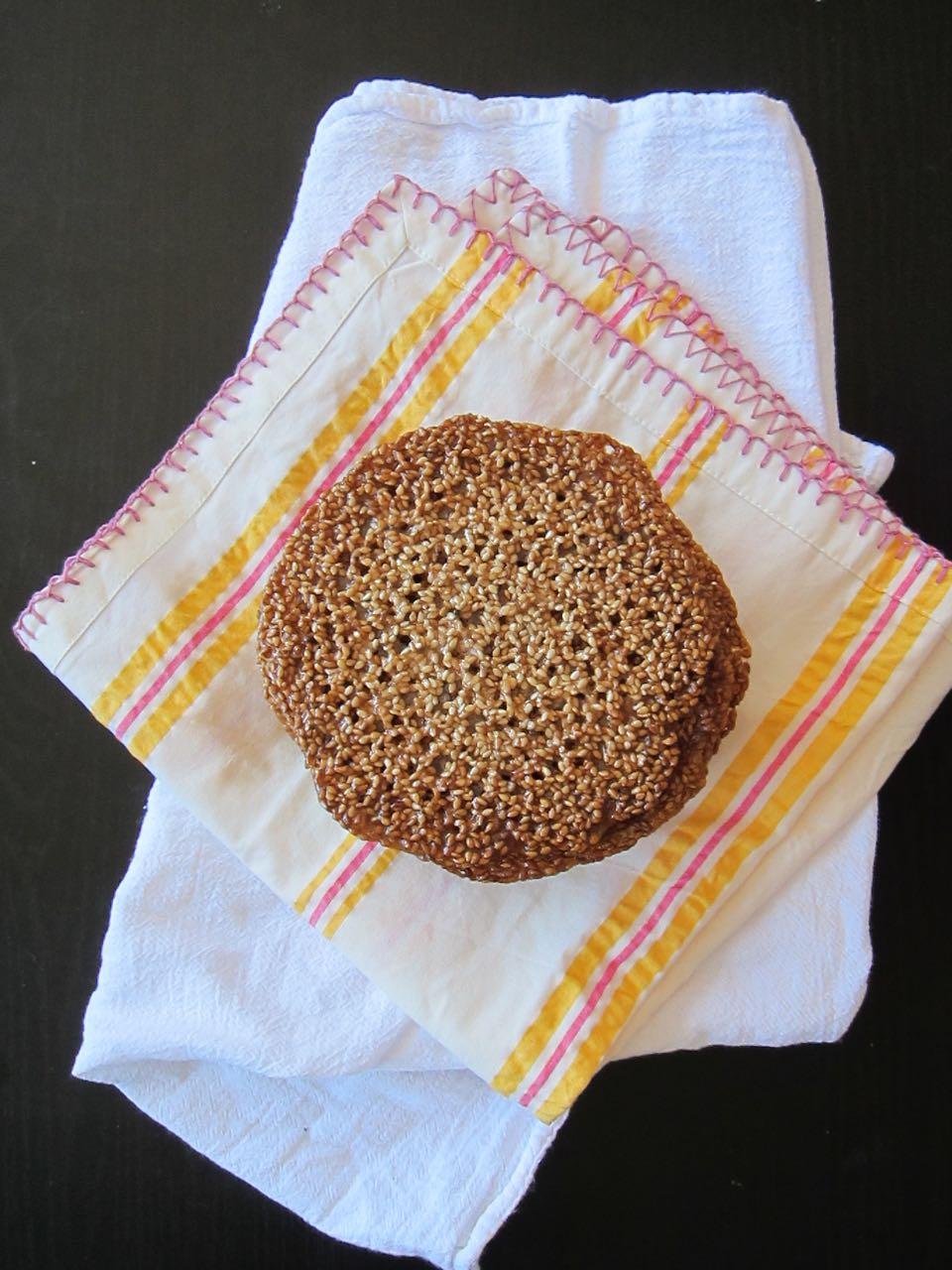 Sesame Florentine Cookies