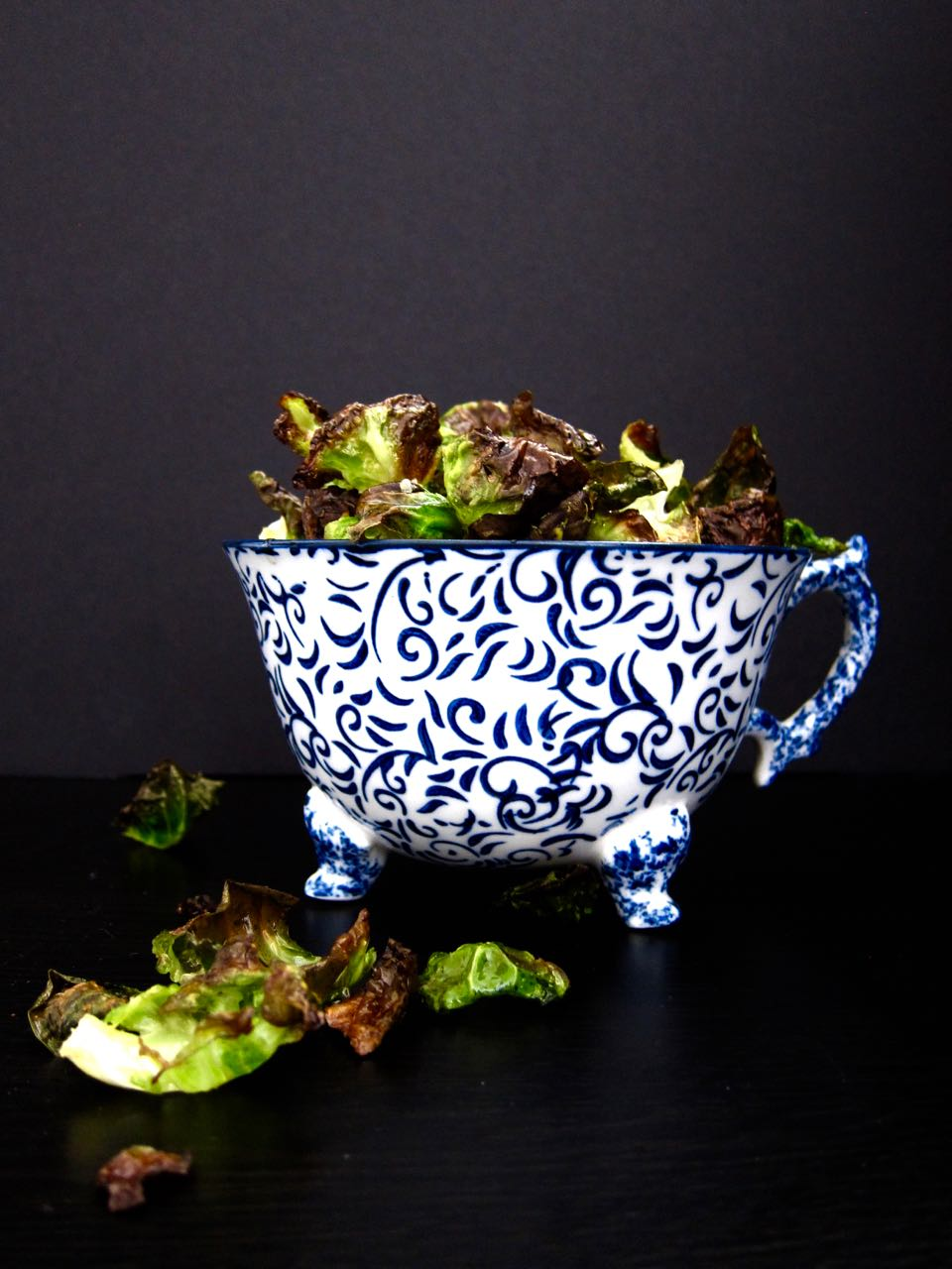 Oven Brussels Sprout Chips