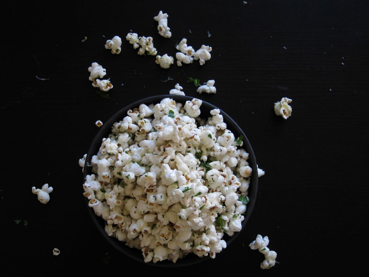 Truffle Parmesan Parsley Popcorn