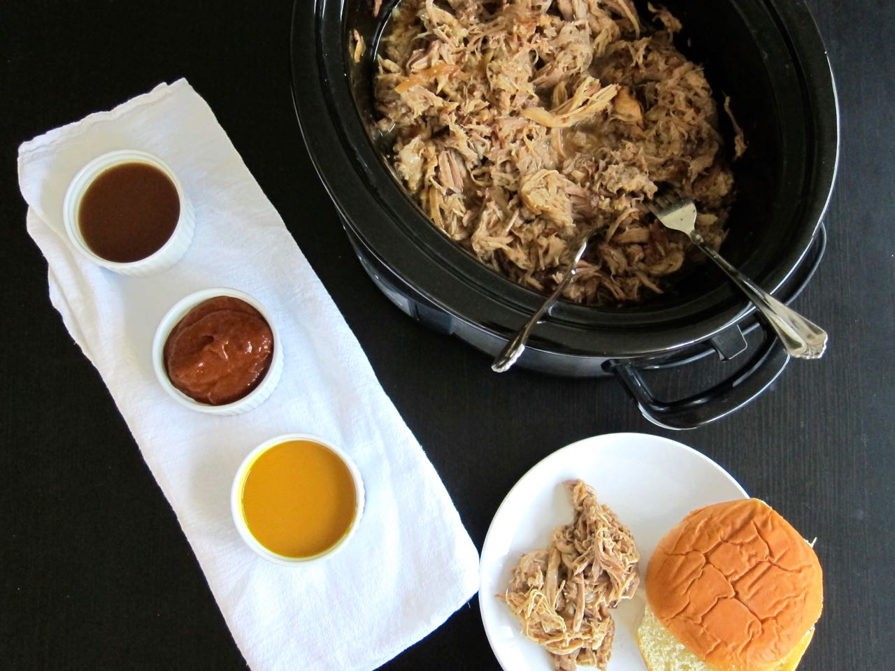 Pulled Pork with State BBQ sauces
