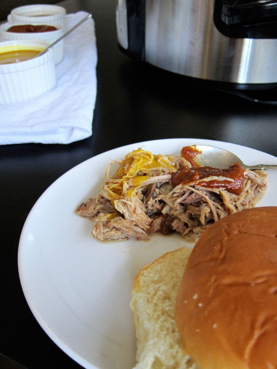 Pulled Pork with BBQ sauces