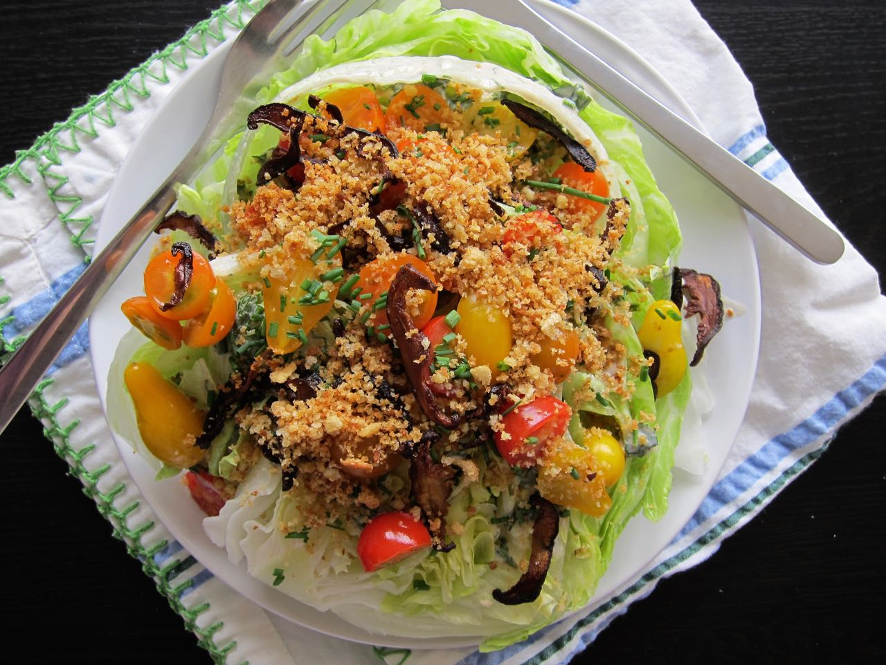 vegan wedge salad