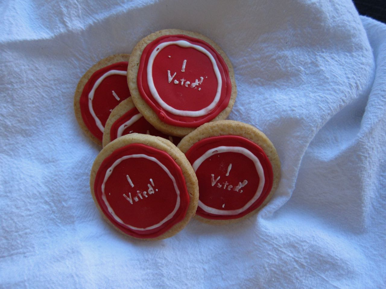 I Voted Sticker Cookies