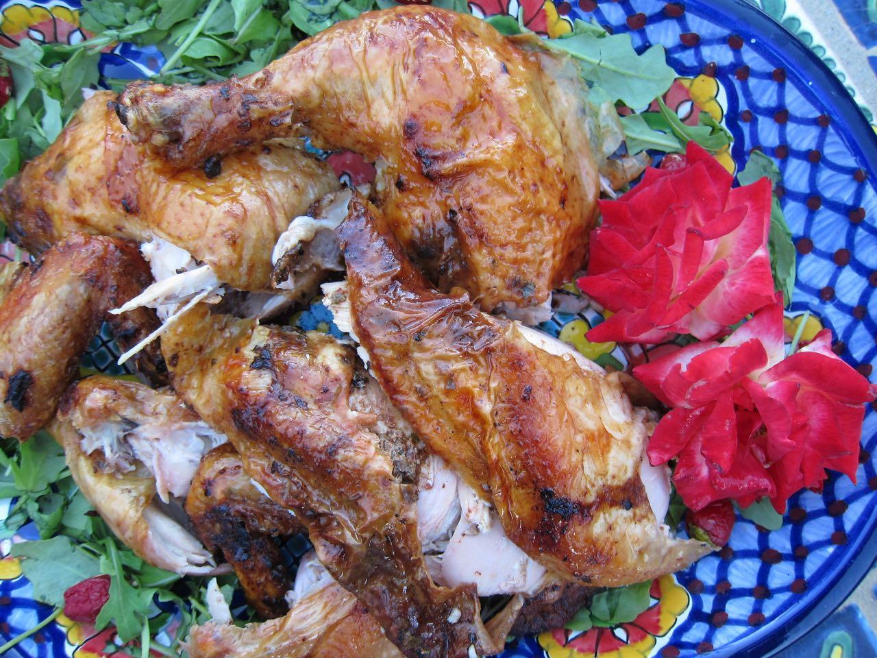 Grilled Roast Chicken